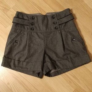 Cidra - Anthropologie - high waisted wool shorts